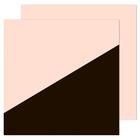 Фотофон двусторонний «Бежевый с чёрным», 45 × 45 см, переплётный картон, 980 г/м