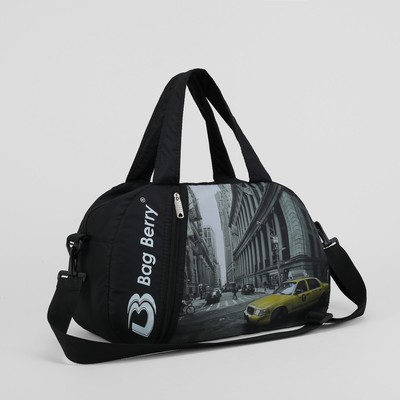 """Сумка спортивная """"Такси"""", отдел на молнии, наружный карман, регулируемый ремень"""