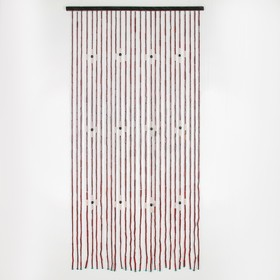 Занавеска «Цветы», 85×167 см, 27 нитей, дерево