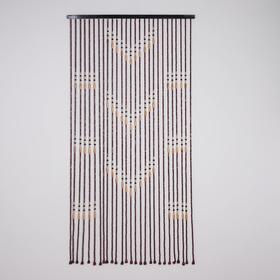 Занавеска 90×177 см, 27 нитей, дерево