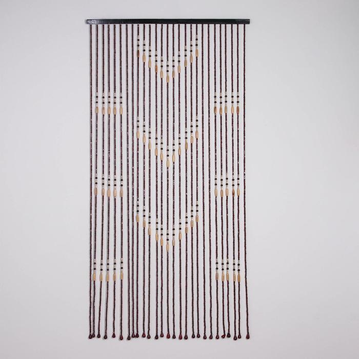 Занавеска декоративная, 90×177 см, 27 нитей, дерево - фото 940990