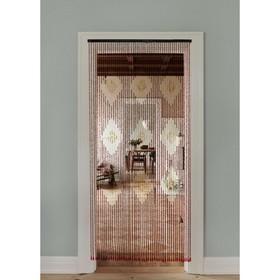 Занавеска 90×194 см, 52 нити, дерево, цвет МИКС