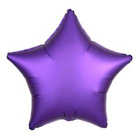 """Шар фольгированный 18"""" «Звезда», сатин, фиолетовый"""
