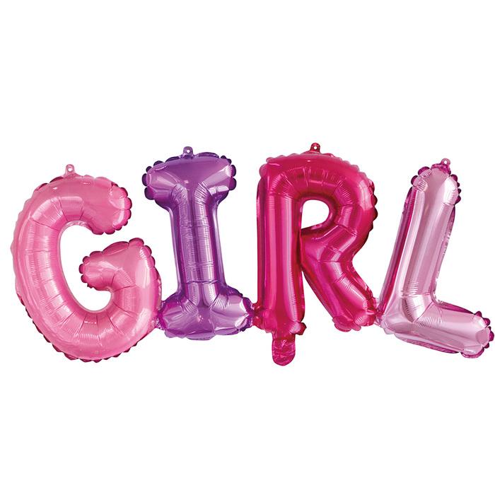 """Шар фольгированный 14"""" GIRL, буквы"""