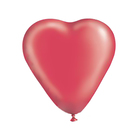 "Шар латексный Сердце 16"" Кристалл Красное 25 шт. G"