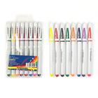 Набор гелевых ручек, 8 цветов, корпус белый с цветными вставками, в блистере