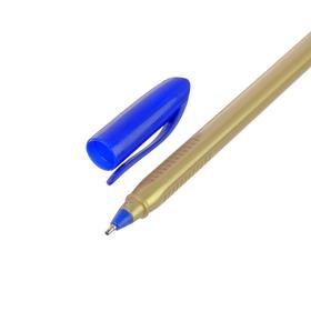 Ballpoint pen, 1.0 mm, blue terminal, housing the Golden triangle