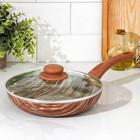 Сковорода глубокая Kantry, d=24 см, стеклянная крышка - фото 211388