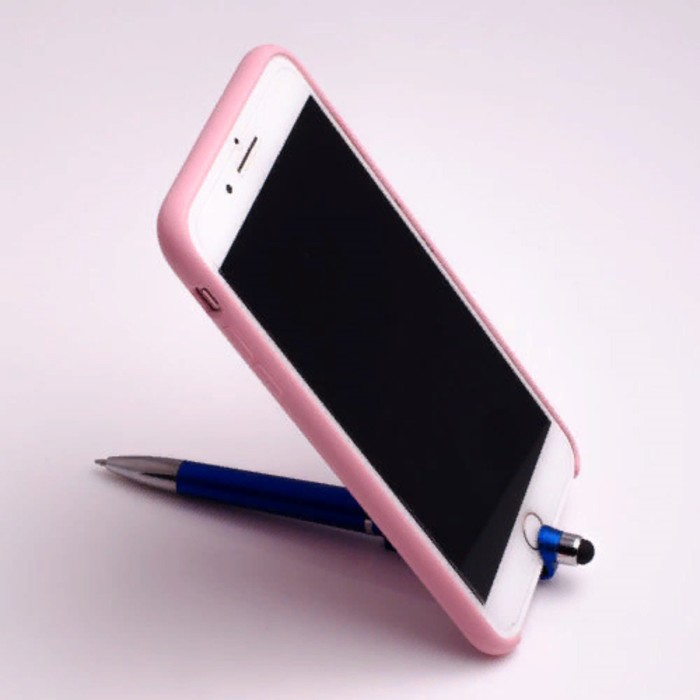 Ручка шариковая-прикол, «Подставка под сотовый», со стилусом, МИКС