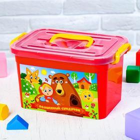 Ящик для игрушек 80901 'Волшебный сундучок' с крышкой и ручками, 6,5 л Ош