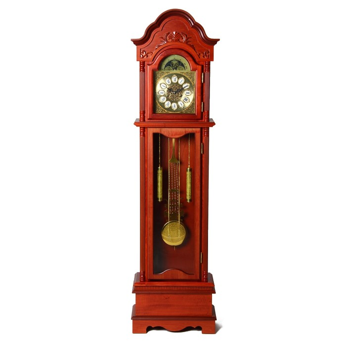 часы напольные механические, узор на крыше вишня 183*49*22см