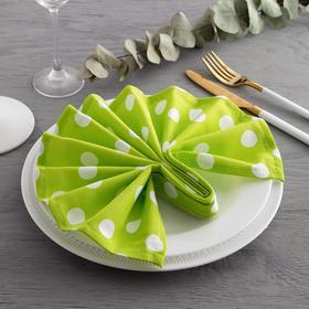 Набор салфеток «Этель» Зелёное яблоко (вид2) , 40х40см - 4 шт