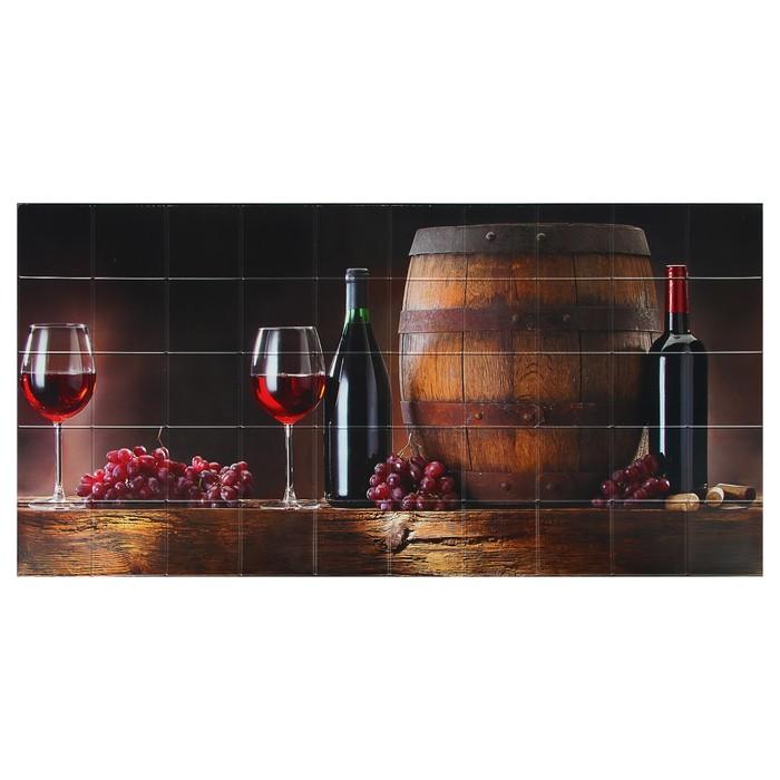 Панель ПВХ плитка Вино 485х960