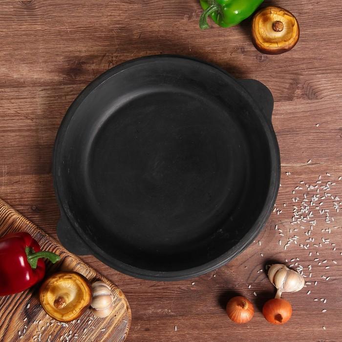 Сковорода чугунная, 30 см (крышка для казана объёмом 4,5 л)
