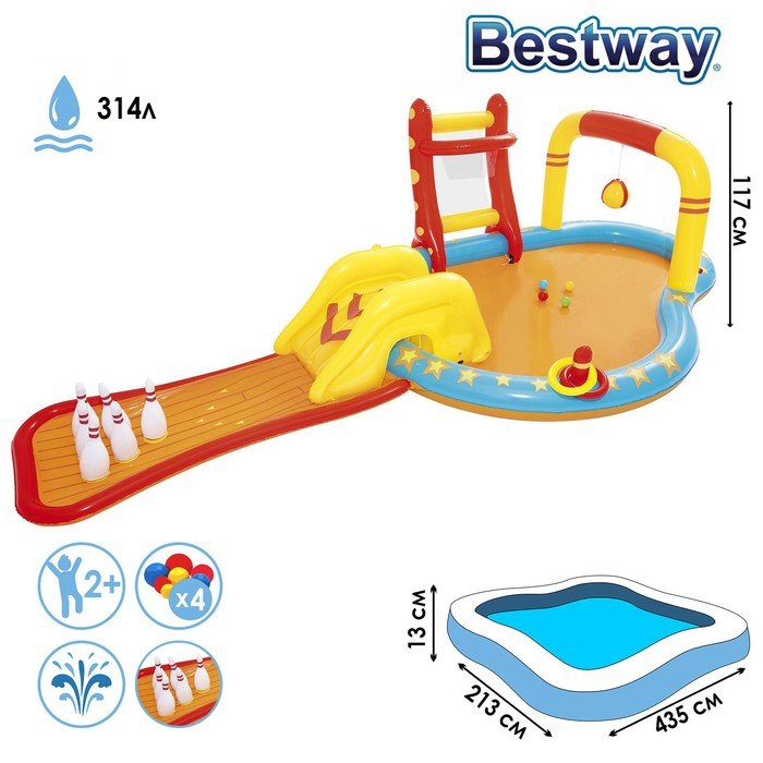 """Игровой центр """"Боулинг"""", с игрушками, 435*213*117 см,314 л., от 2+ (53068)"""