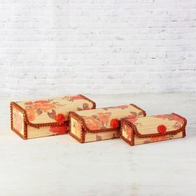 Набор шкатулок из бамбука, 23 × 12, H=9 см