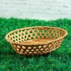 Фруктовница «Плетёнка», 24х20х6 см, бамбук