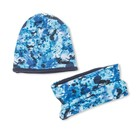 Комплект снуд + шапка, размер 40-45 см, цвет синий КУД-92/4
