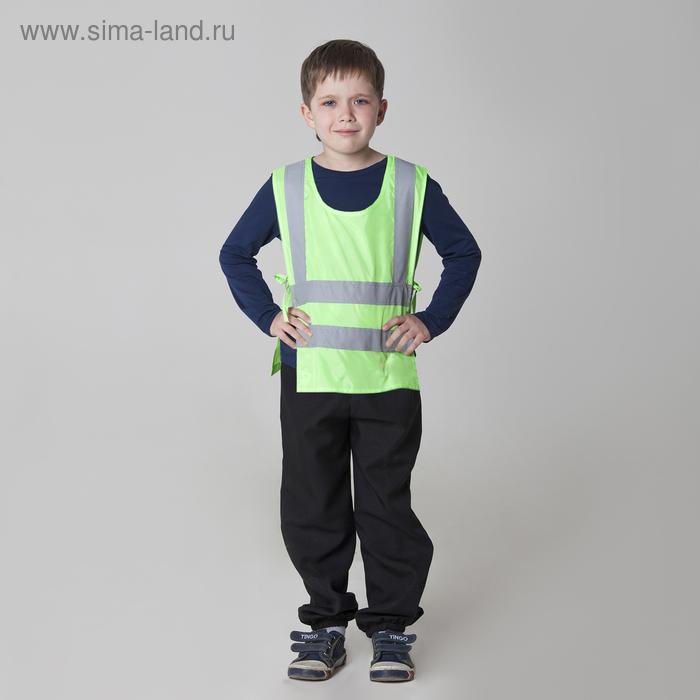 """Детский жилет """"ДПС"""" со светоотражающими полосами, рост 134-146 см"""