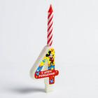 Свеча в торт цифра Дисней
