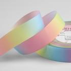 Лента репсовая «Радуга», 25 мм, 18 ± 1 м, цвет разноцветная