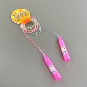 Скакалка детская «Мяу», цвет розовый