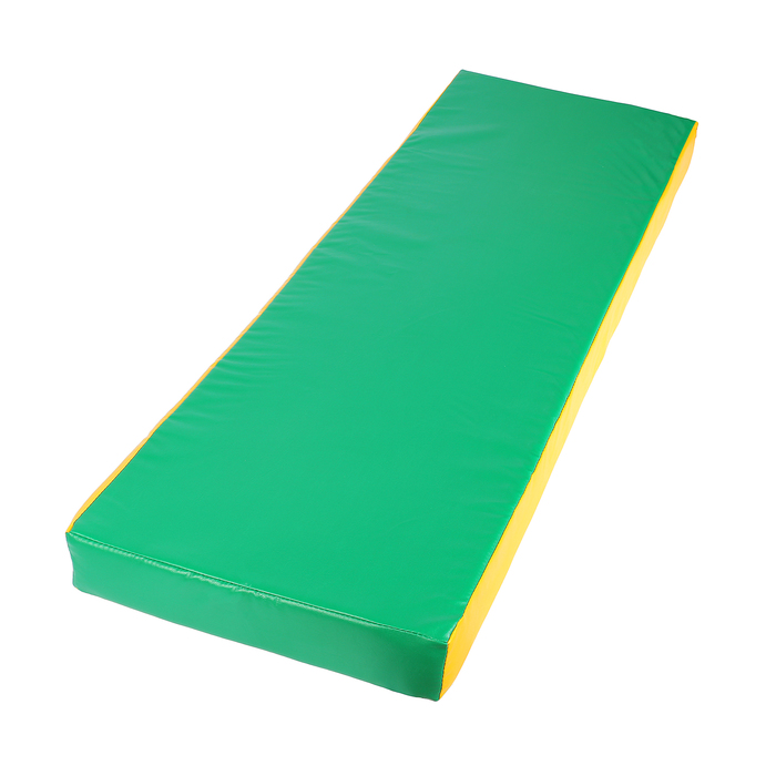 Мат 150 х 50 х 10 см, винилискожа, цвет зелёный/жёлтый