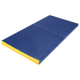 Мат 64 х 120 х 7 см, 1 сложение, oxford, цвет синий/жёлтый