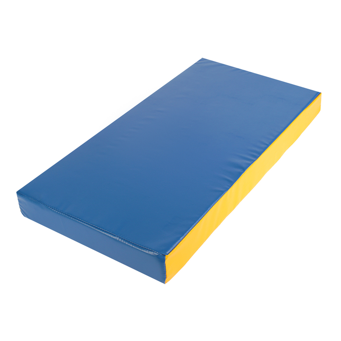 Мат 100 х 50 х 10 см, винилискожа, цвет синий/жёлтый