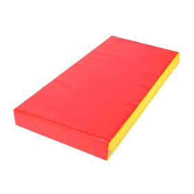 Мат 100 х 50 х 10 см, винилискожа, цвет красный/жёлтый