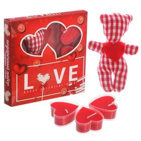 """Набор игрушка и 3 свечи """"Love!"""""""