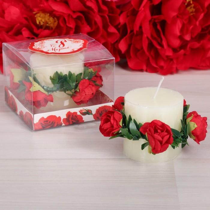 """Подарочная свеча """"С 8 марта"""""""