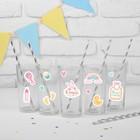 Набор для украшения праздника «Малышка 1 годик», наклейки, 12 шпажек - фото 105519883