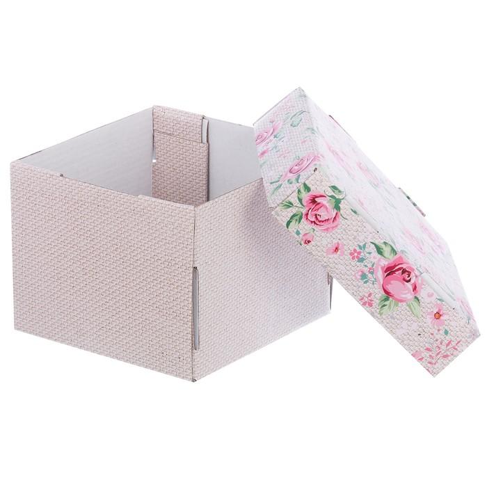 Складная коробка «Нежность дня», 15 х 15 х 12 см