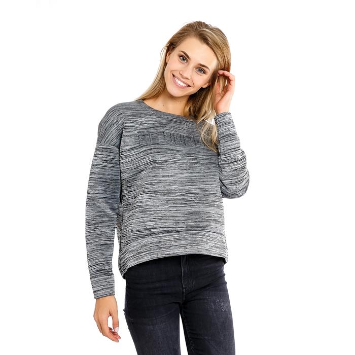 Толстовка женская, цвет серый меланж, размер 46 (M)