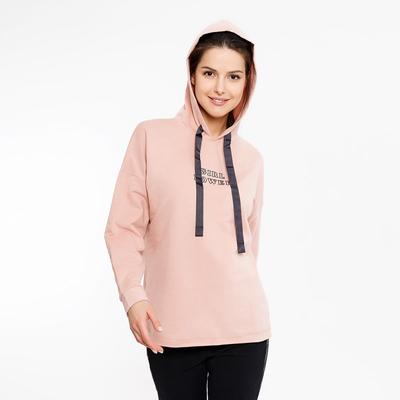 Толстовка женская 2654-7 (122434) цвет розовый, р-р 52 (XXL)