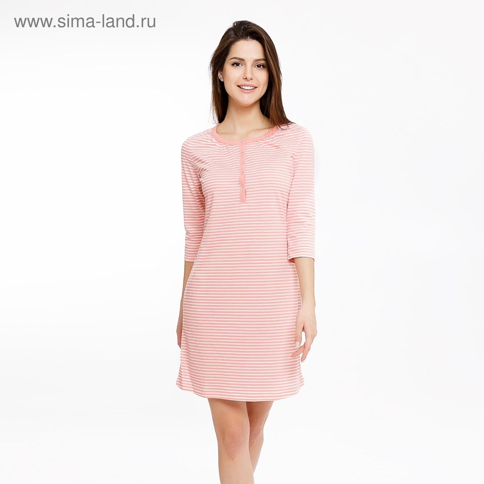 8537f151948a6f6 Сорочка женская 801-0 (572264) цвет розовая полоска, р-р 42 (XS ...