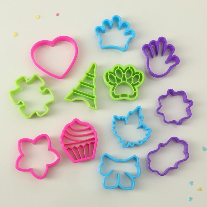 """Набор форм для печенья """"Воображение"""", 12 шт, цвета МИКС - фото 308034486"""