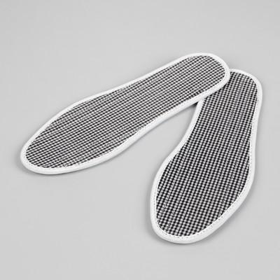 Стельки для обуви, ароматизированные, окантовка, пара, 38р-р, цвет белый/чёрный