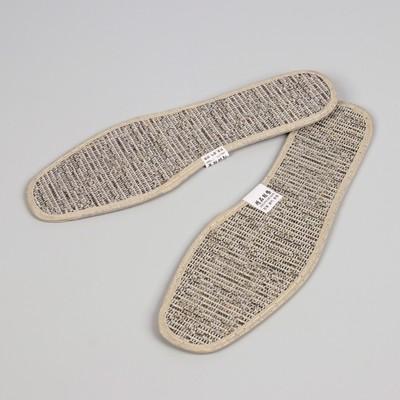 Стельки для обуви, окантовка, пара, 39р-р, цвет серый