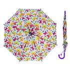 """Зонт детский """"Бабочки"""", полуавтоматический, со свистком, r=38см, цвет фиолетовый"""