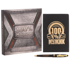 """Подарочный набор """"100 % мужик"""": обложка для паспорта и ручка"""