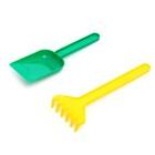 Набор для игры в песке №101: совок, грабли, МИКС