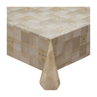 Клеёнка столовая Meiwa, 140 см, 20 пог. м., золото - фото 8442761