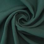 Ткань костюмная габардин, ширина 150 см, цвет тёмно-зелёный 260 г/п.м.