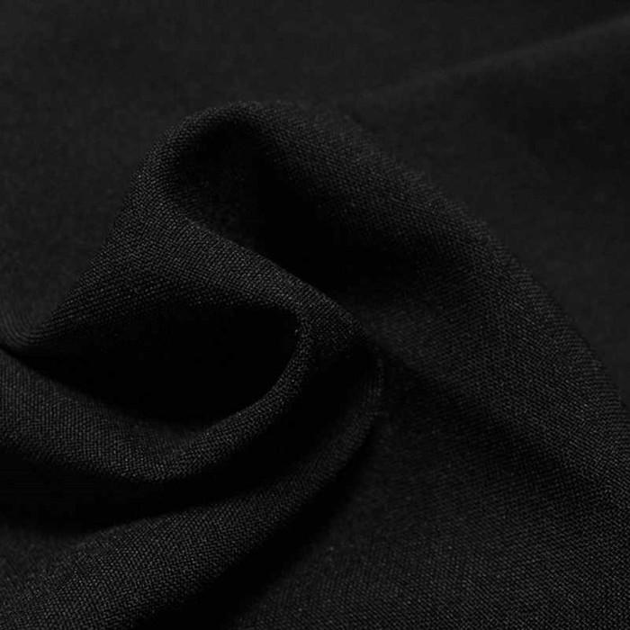 Ткань костюмная габардин, ширина 150 см, цвет чёрный 260 г/п.м.