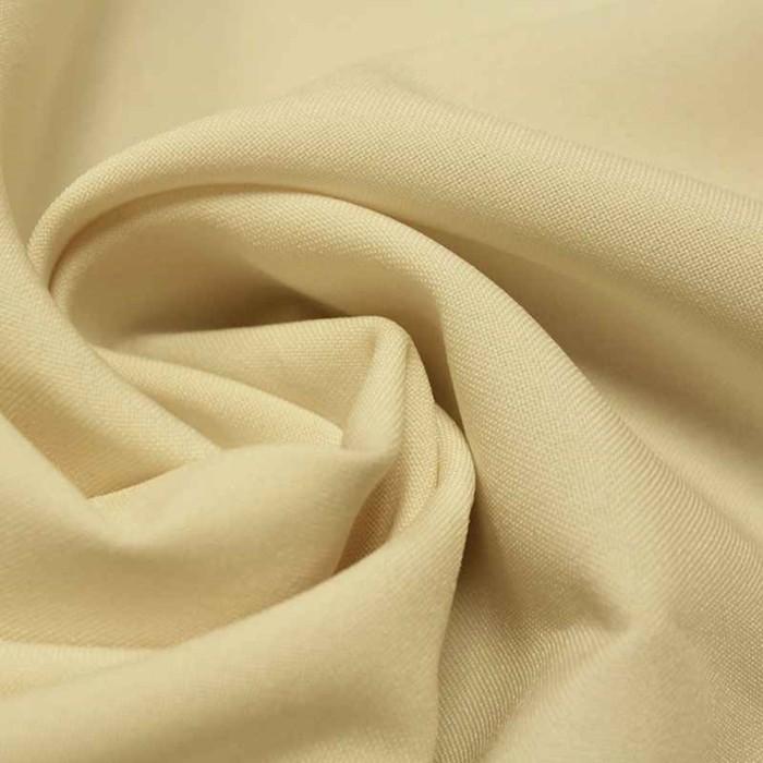 Ткань костюмная габардин, ширина 150 см, цвет молочный 260 г/п.м.