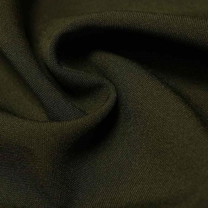 Ткань костюмная габардин, ширина 150 см, цвет тёмный хаки 260 г/п.м.
