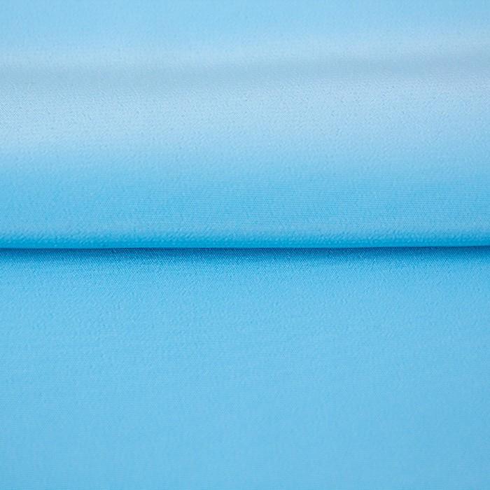 Ткань гладкокрашеная, креп кашибо, ширина 150 см, цвет голубой