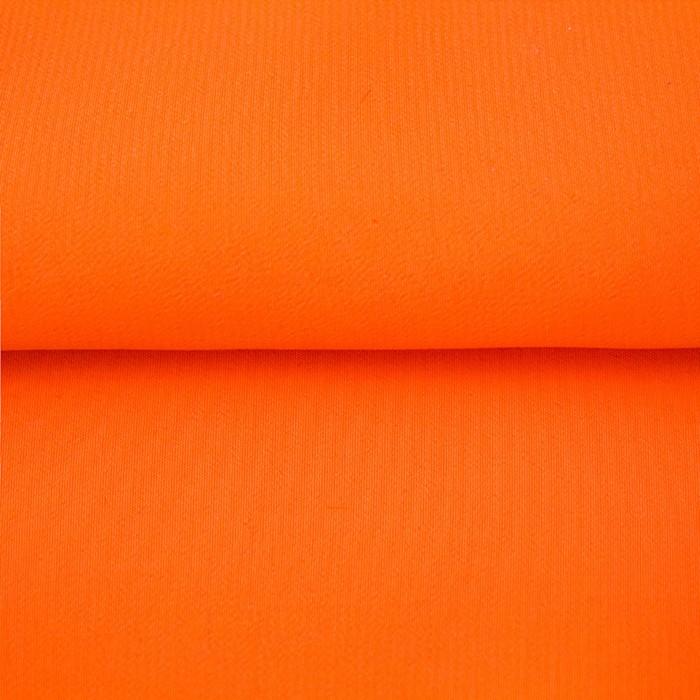 Ткань гладкокрашеная, креп кашибо, ширина 150 см, цвет оранжевый